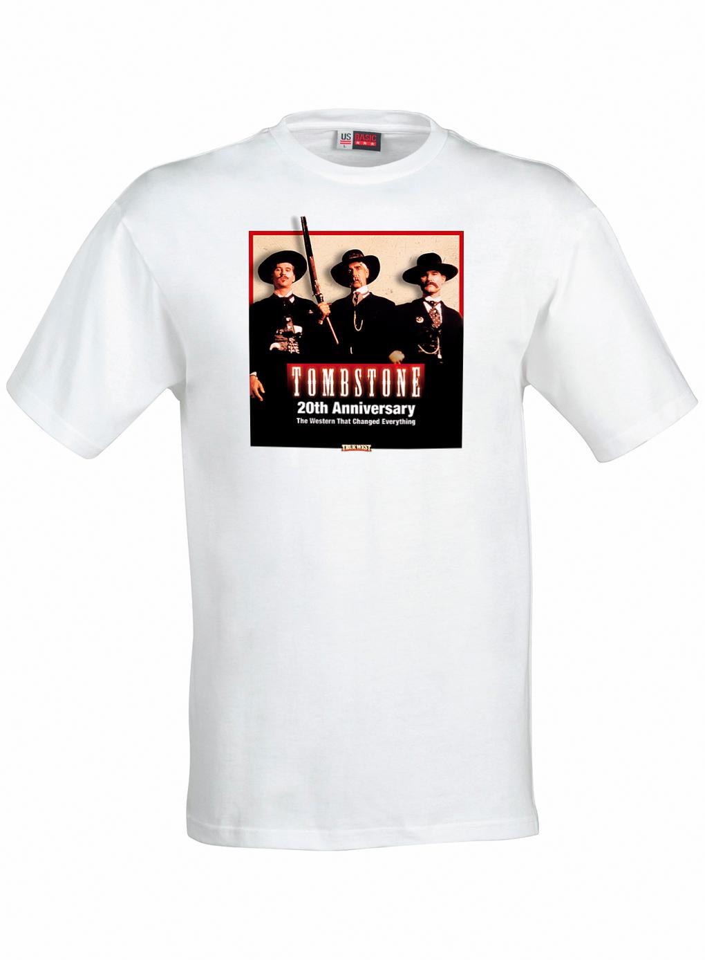 T shirt tombstone 20th anniversary true west magazine for Small quantity custom t shirts