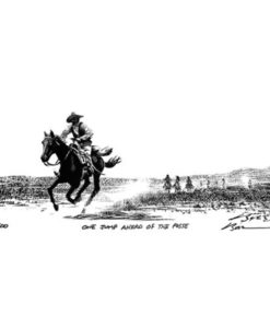 One Jump Ahead of the Posse-Art Print