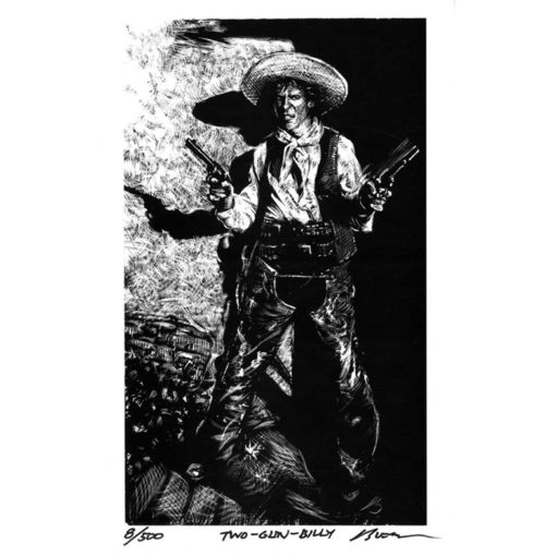 Two Gun Billy-Art Print