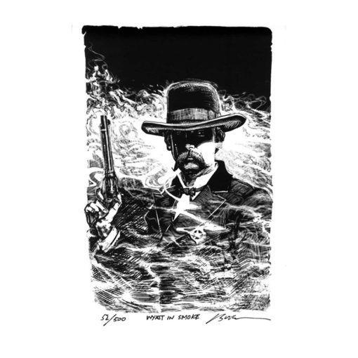 Wyatt in Smoke-Art Print