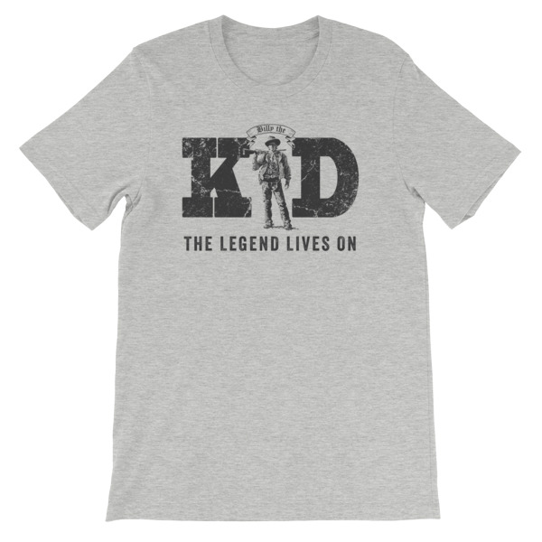 d1760d5a4 Billy The Kid-The Legend Lives On | T-Shirt | Athletic Heather