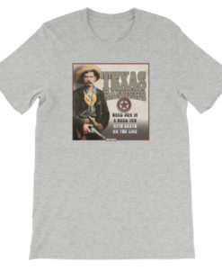 Texas Rangers-Hard Men in a Hard Job T-Shirt, Athletic Gray