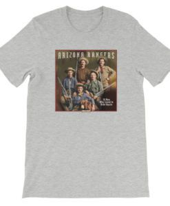 Arizona Rangers-26 Men Who Lived to Ride Again T-Shirt, Athletic Gray