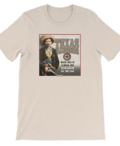 Texas Rangers-Hard Men in a Hard Job T-Shirt, Cream