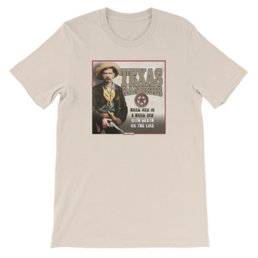 Texas Rangers-Hard Men in a Hard Job T-Shirt, Cream