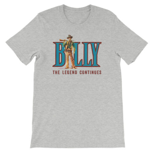 Billy The Kid-The Legend Continues T-Shirt, Athletic Gray