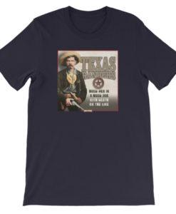 Texas Rangers-Hard Men in a Hard Job T-Shirt, Navy