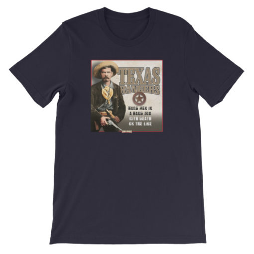 Texas Rangers-Hard Men in a Hard Job T-Shirt, Navy