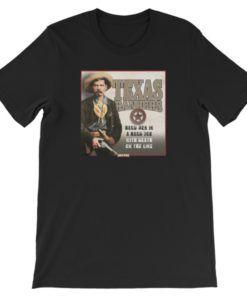 Texas Rangers-Hard Men in a Hard Job T-Shirt, Black