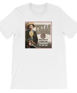 Texas Rangers-Hard Men in a Hard Job T-Shirt, White