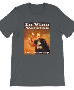 In Vino Veritas Doc Holliday T-Shirt - Dark Gray