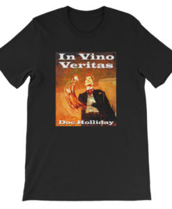 In Vino Veritas Doc Holliday T-Shirt - Black