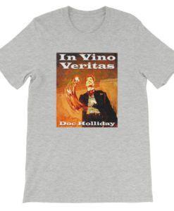 In Vino Veritas Doc Holliday T-Shirt - Light Gray