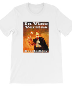 In Vino Veritas Doc Holliday T-Shirt - White