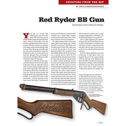 True West Magazine Collector Issue December 2017 Red Ryder BB Gun