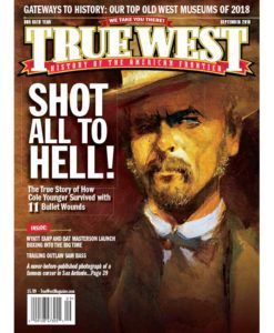 Cole younger true west magazine collector issue September 2018